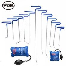Hak Narzędzia PDR Zestaw Niebieski Kolor PDR Push Pręty Samochodów łom Narzędzia Naprawa Zdrowaś Paintless Dent Dent Removal Damage Repair zestaw