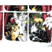 สามลูกแมวseeหิมะดิจิตอลDiyภาพสีน้ำมันโดยตัวเลขตกแต่งผนังรูปภาพบนผ้าใบสีน้ำมันสีโดยหมาย