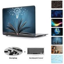 """Transparent Crystal Case Pour Apple Macbook Pro 13 15 Avec Retina A1502 A1466 Mélanger Motif Couverture Pour Air 11 """"12"""" Nouveau Mac 12"""""""