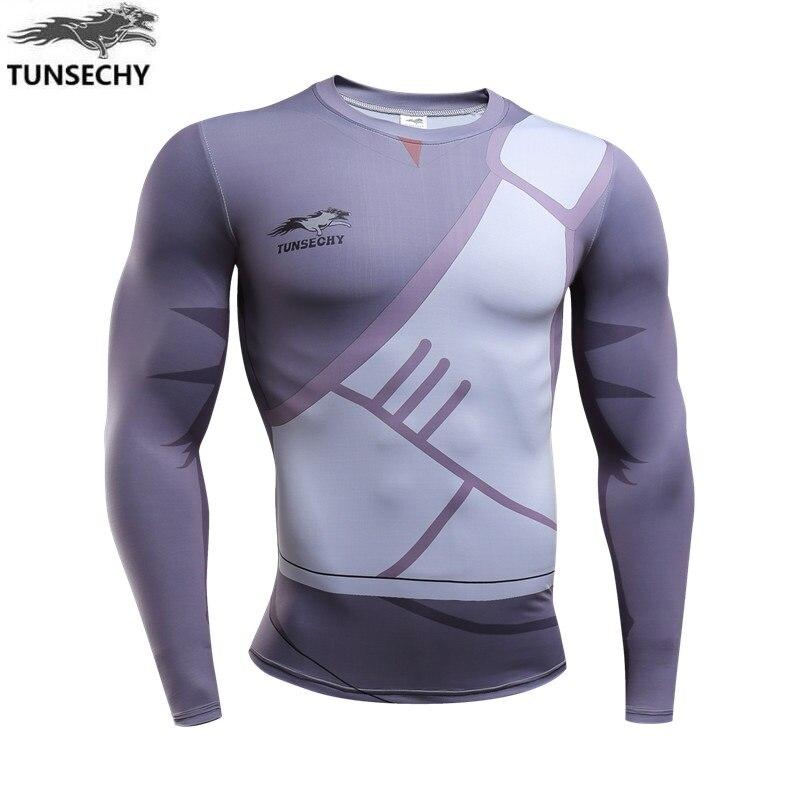 TUNSECHY costume design naruto character men long sleeve T-shirt breathable quick-drying T-shirt fashion T-shirt