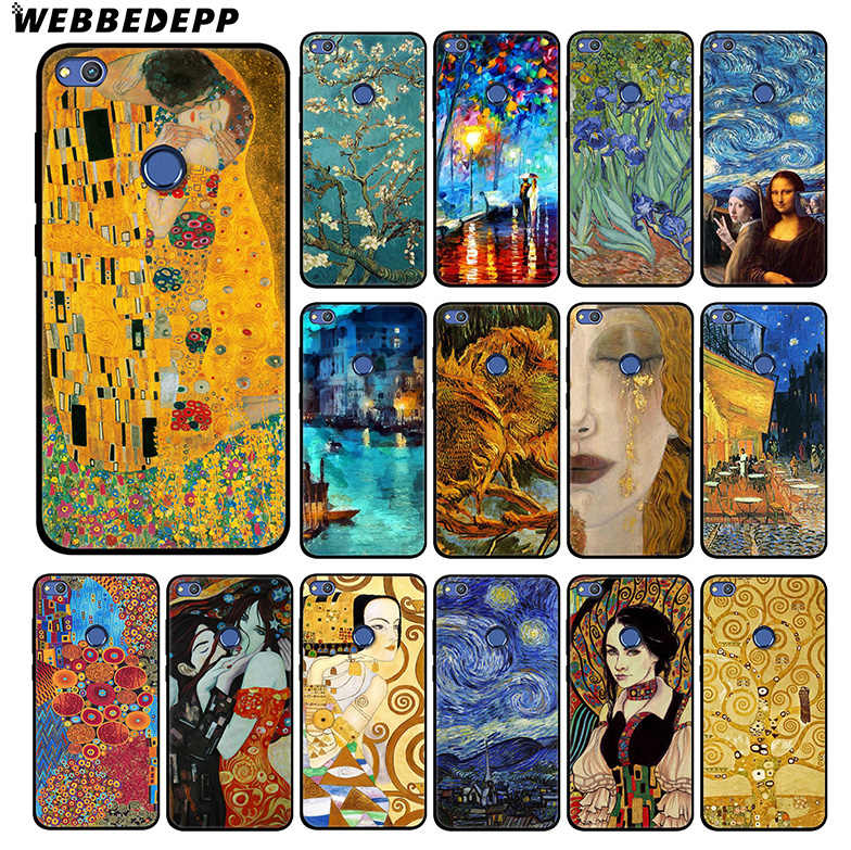 WEBBEDEPP Van Gogh Oil Painting Soft Silicone Case for Huawei Honor Mate 20 10 8X 8C 8 6A 7A 7X 7C Lite Pro TPU