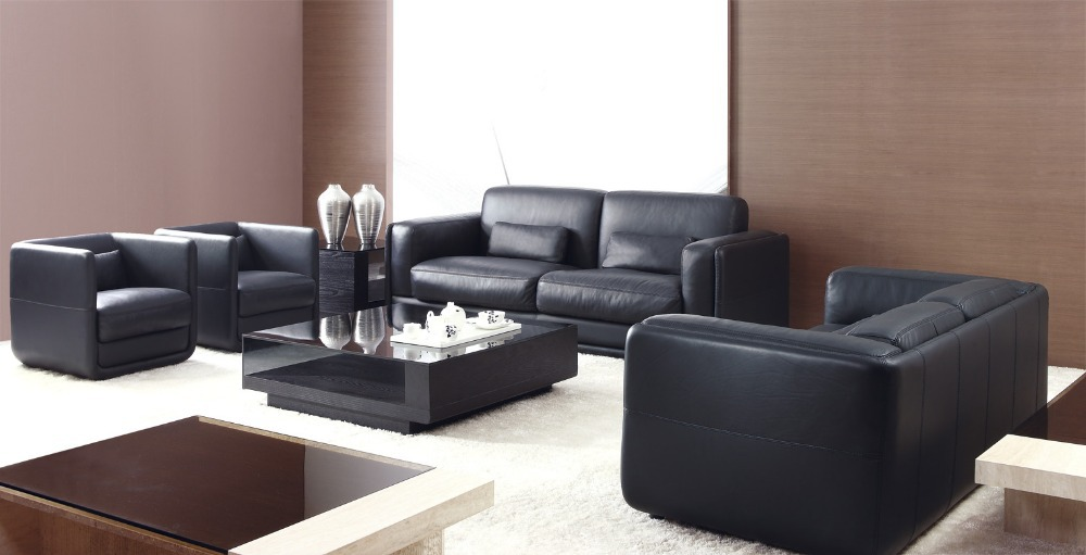 High quality genuine leather sofa living room sofa for Latest living room furniture