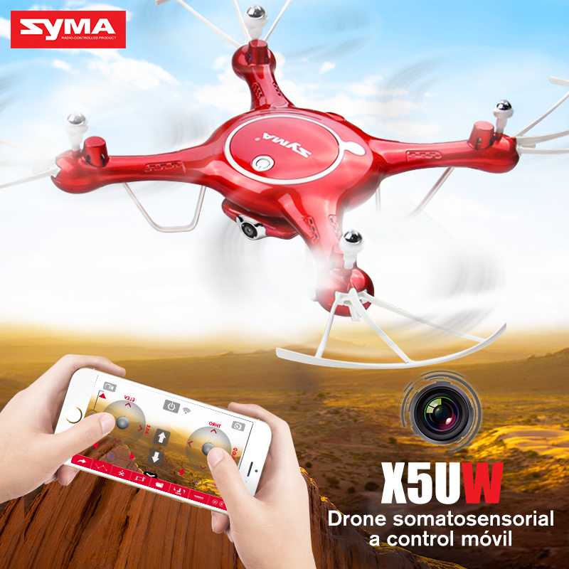 SYMA X5UW Quadrocopter Helicopter Drones Real-time Transmission RC Drone With Camera HD Wifi FPV SmartPhone Control Dron Toys syma x5uw drone wifi camera hd 720p real time transmission fpv 2 4g 4ch rc helicopter quadrocopter mobile control vs x5sw x5c