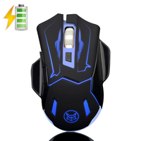 Q5 2 4GHz Wireless Silent Rechargeable Mouse Smart Sleep LED Backlit USB Optical Ergonomic Gaming Mouse