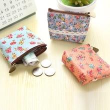 Korean Version Cute Floral Coin Purse Change Bag Storage Key Case For Women Girl