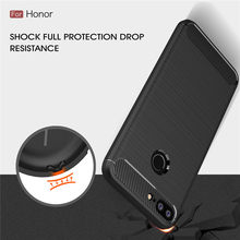 Honor 9 Lite Cases Cover Shockproof Huawei Honor Play 8X 7X 6X 8 9 10 Lite Carbon Fiber Bumper TPU Silicone Protector Case Cover(China)