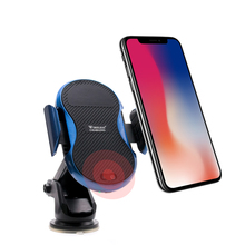 Qi Wireless Car Charger for iPhone X 8 8plus Samsung Galaxy s7 S8 S9 plus Note 8 Infrared sensing Holder Fast Wireless Charger