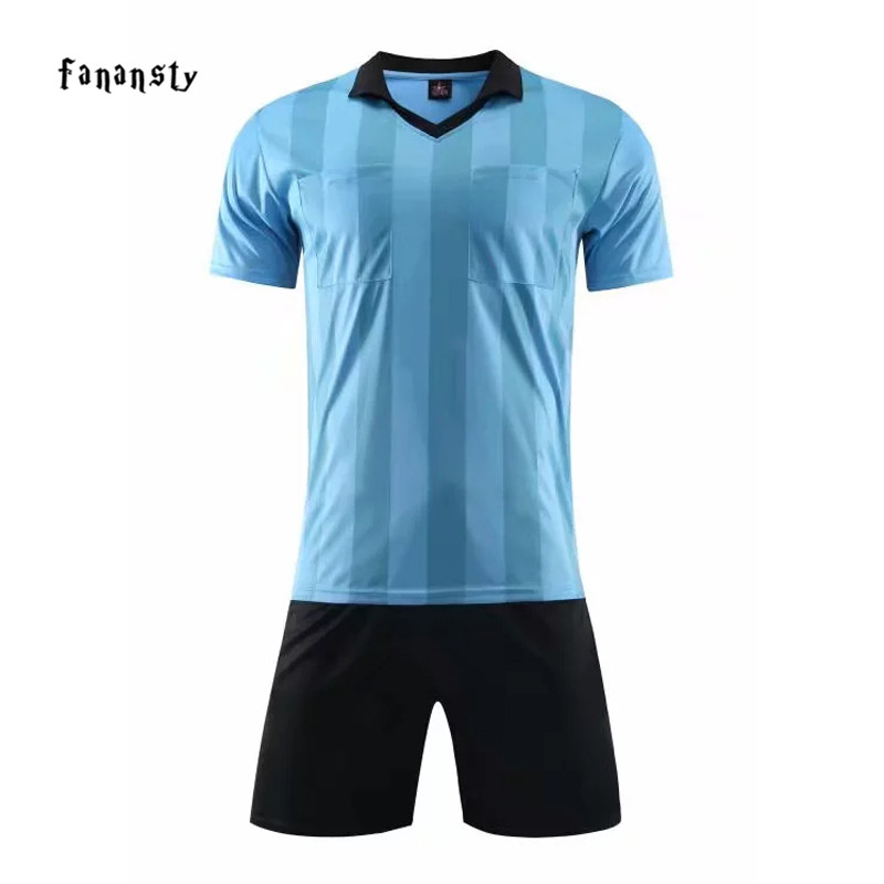 New Referee Soccer Set Good Quality Quick Dry Breathable Foothball Jersey  Professional Soccer Suit Judge Soccer Shirt and Short-in Soccer Sets from  Sports ... 202c44ba6