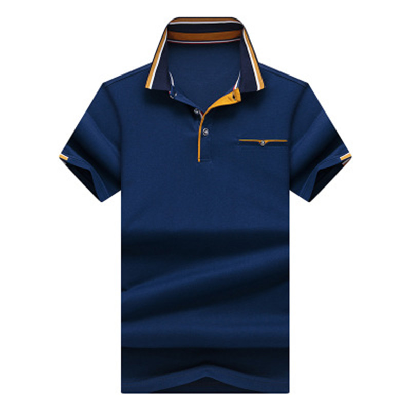 2019 New Men's   POLO   Shirt High Quality Business Casual Solid Color Cotton Classic Design Male   POLO   Shirt Short Sleeve