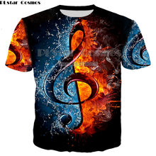 PLstar Cosmos Hot Fashion Rock Style T-Shirt DJ Disco Music and Guitar Print 3D T Shirt Neutral Men /Womens Casual Clothing(China)
