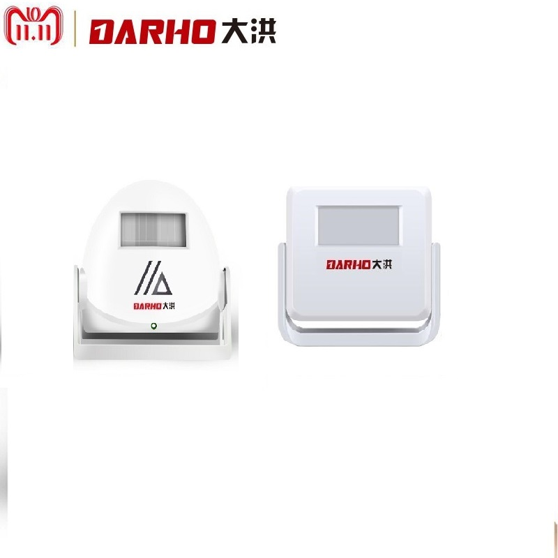 Darho Infrared Motion Sensor Alarm Wireless Intelligent Welcome Greeting Doorbell 10m Warning Doorbell Door Bell darho infrared motion sensor alarm wireless intelligent welcome greeting doorbell 10m warning doorbell door bell
