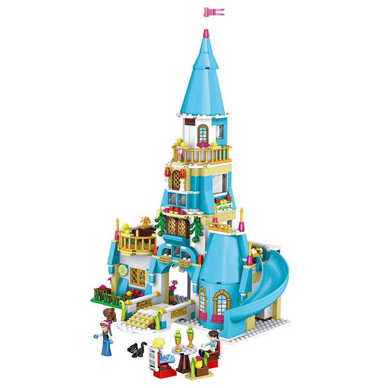 561pcs  Princess Anna and the Prince Castle Model Building Kits minis Blocks Bricks Girl Toys For Children With Lepin new 37008 561pcs girl friends princess anna and the princess castle building kit blocks bricks toys for children gift brinquedos