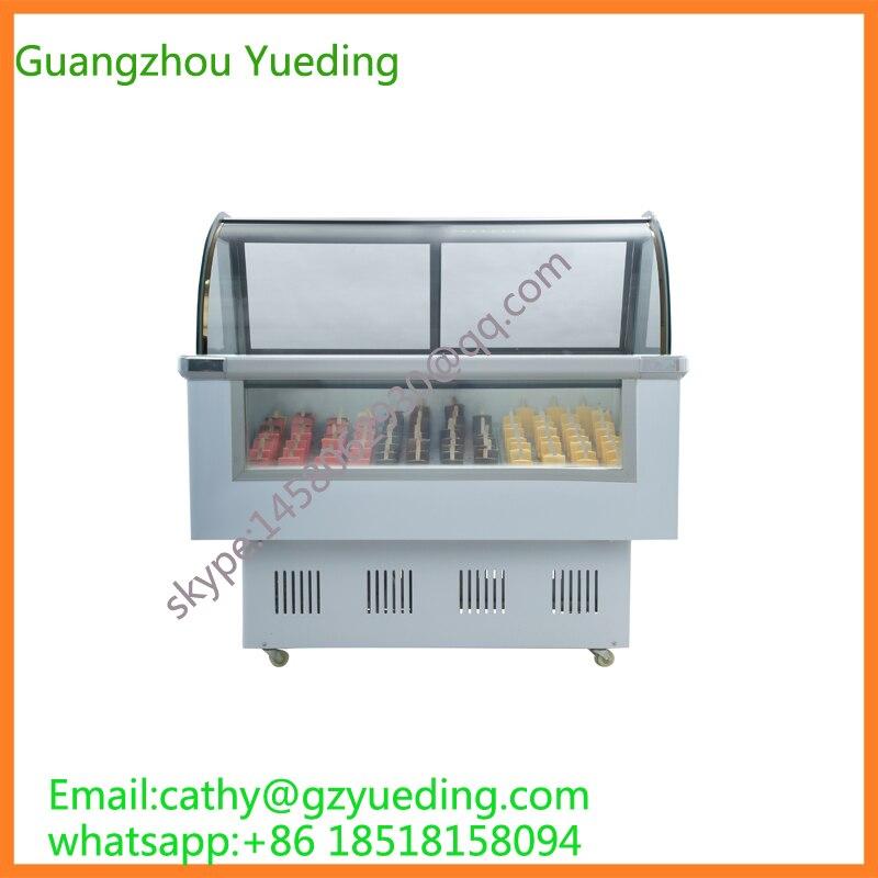 hard ice cream display freezer/popsicle freezer showcase/gelato display freezer