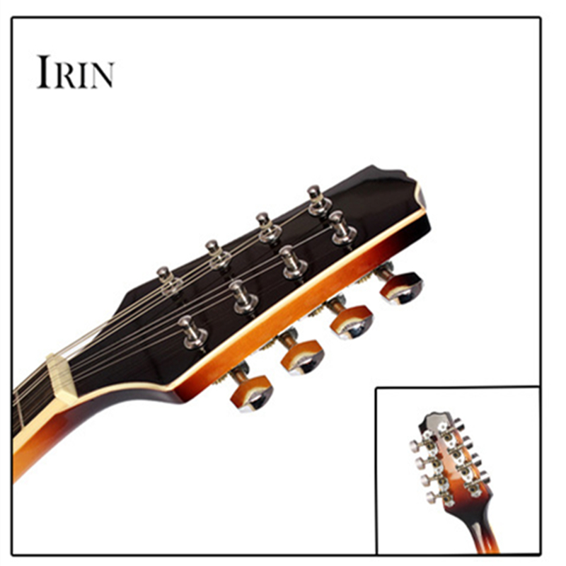 UM Estilo 8 Cordas Basswood Bandolim Ukulele Instrumento Musical com Rosewood Bandolim Cordas De Aço Guitarra Instrumento Ajustável - 2