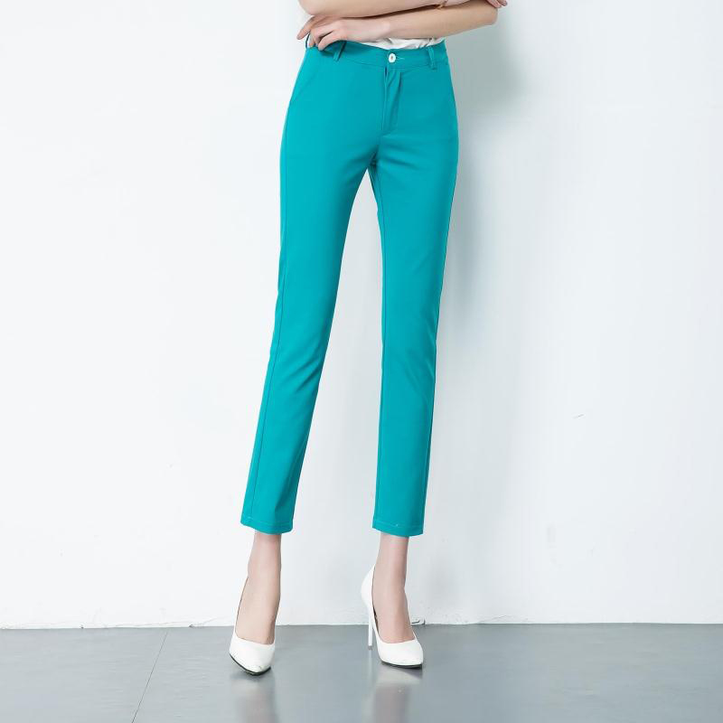 Image 4 - Women's Casual Candy Pencil Pants 2019 New arrival 95% Cotton Elastic Slim Skinny Pants Femal Women's Stretch Pencil Trousers-in Pants & Capris from Women's Clothing