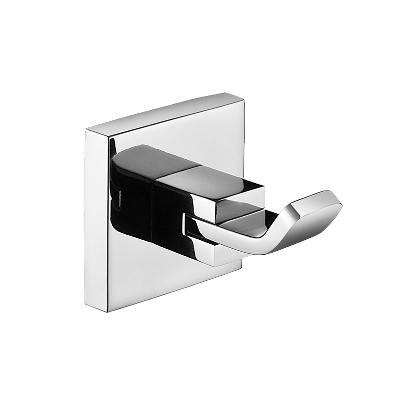 Brass Chrome Square Wall Mounted Single Robe Hook Lavatory Ladder Hanger Bathroom Fixtures