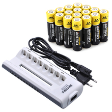 20Pcs AA Rechargeable Battery AA NiMH 1 2V 2800mAh Ni MH 2A Pre charged Bateria 8Slots
