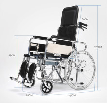 Lightweight portable manual wheelchair for disabled people
