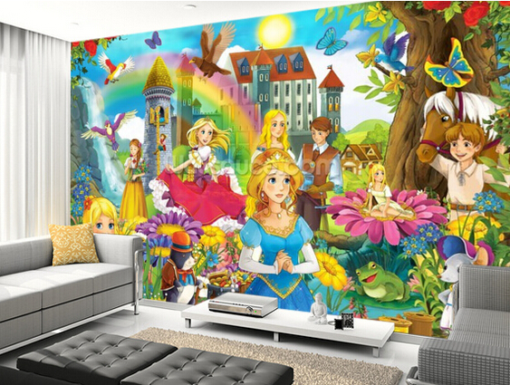 Custom children's wallpaper,The Fairy Tales,3D cartoon photos for children's bedroom boy girl room wall waterproof wallpaper the canterbury tales a selection