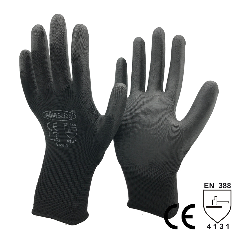 NMSAFETY 13 Gauge Knitted Safety Work Gloves