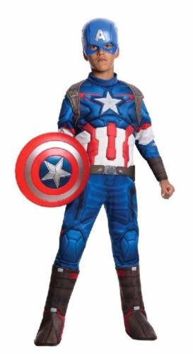 Purim Costumes Kids Deluxe Muscle Halloween Captain America Costume for children boys kids superhero movie man of steel cosplay