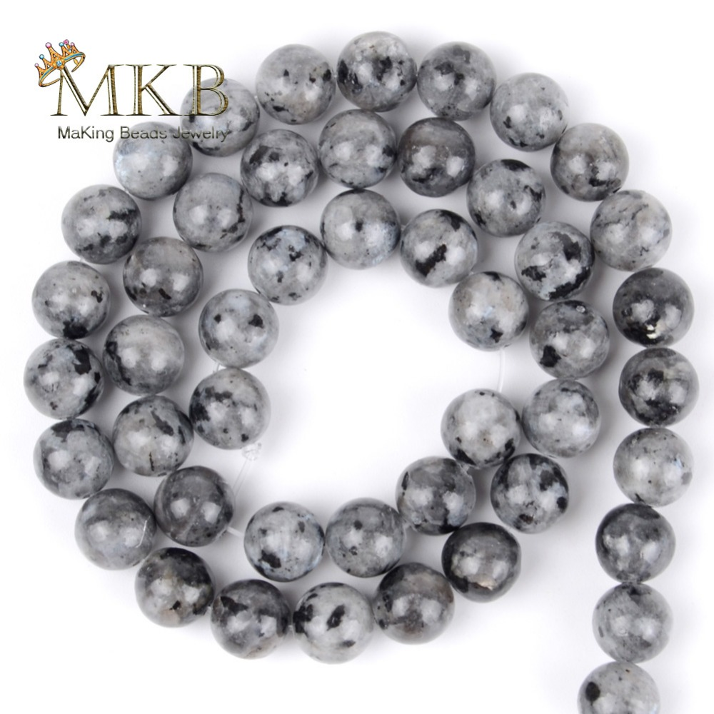 Natural Stone Black Labradorite Round Beads For Jewelry Making 4 6 8 10 12mm Spacer Beads Diy Bracelet Accessories Wholesale in Beads from Jewelry Accessories