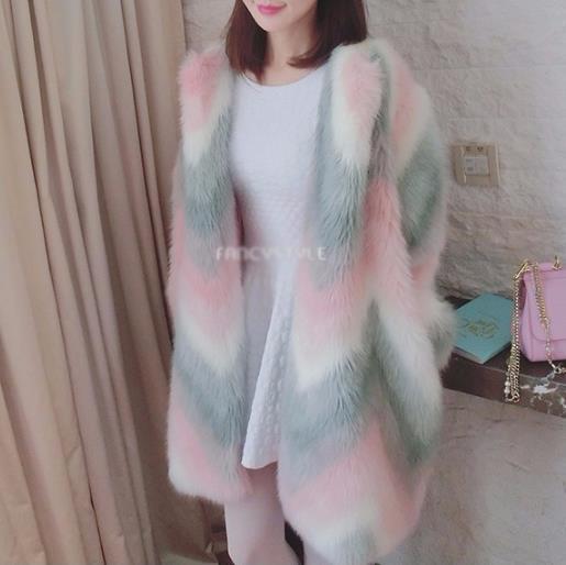Long Chaude Manteau Outwear Veste Grande Femme Manteaux Artificielle Fausse Taille Clobee Z699 Fourrure Hiver dqFZwad6x