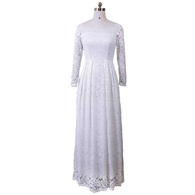 Summer Dress Women 2018 Sexy Off the Shoulder Slash Neck White Lace Dress Elegant Maxi Evening