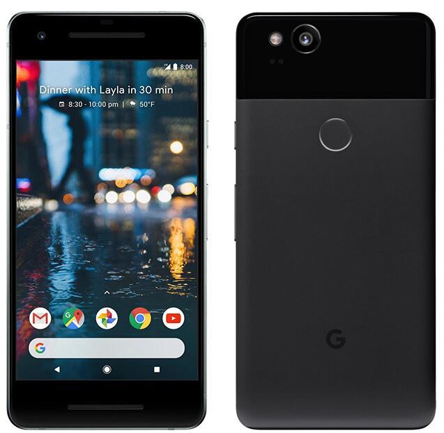 Разблокированный смартфон Google Pixel 2 5,0 ''дюймов, Восьмиядерный, с одной sim-картой, 4G LTE, Android, мобильный телефон, 4 Гб ram, 64 ГБ, 128 ГБ rom, смартфон - Цвет: Черный