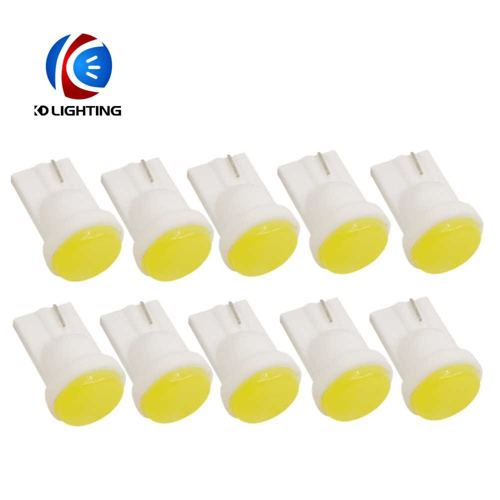 KD 1PCS T10 COB 1W Wedge Door Instrument Side Bulbs Car Light Lamp White Blue Green Red Yellow 12V Car Accessories