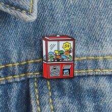 Эмалированная брошь для игры в ретро стиле значок рюкзака