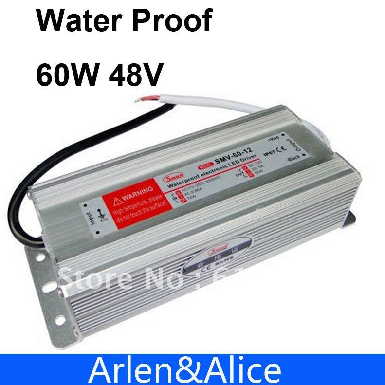 60W 48V 1.25A Waterproof outdoor Single Output Switching power supply AC TO DC SMPS