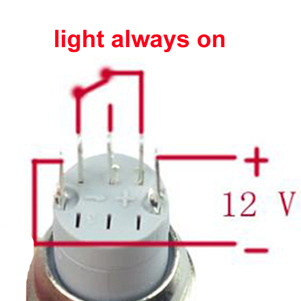 Aliexpress Buy RedGreenBluewhite 16mm Hole 12V LED Angel – Lighted Momentary Switch Wiring Diagram