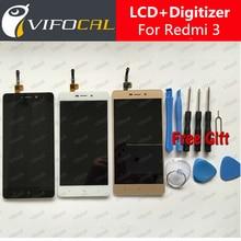 Para xiaomi redmi 3 lcd display + touch screen + herramientas 100% Nueva Asamblea Digitalizador Reparación del Reemplazo Accesorios Para Celular teléfono