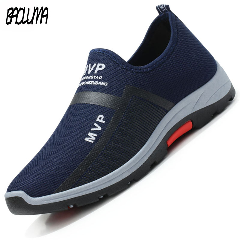 2019 Autumn New Style Men Casual Shoes Air Mesh Shoes Black Men Driving Loafers Shoes Slip on Breathable Sneakers Trainers