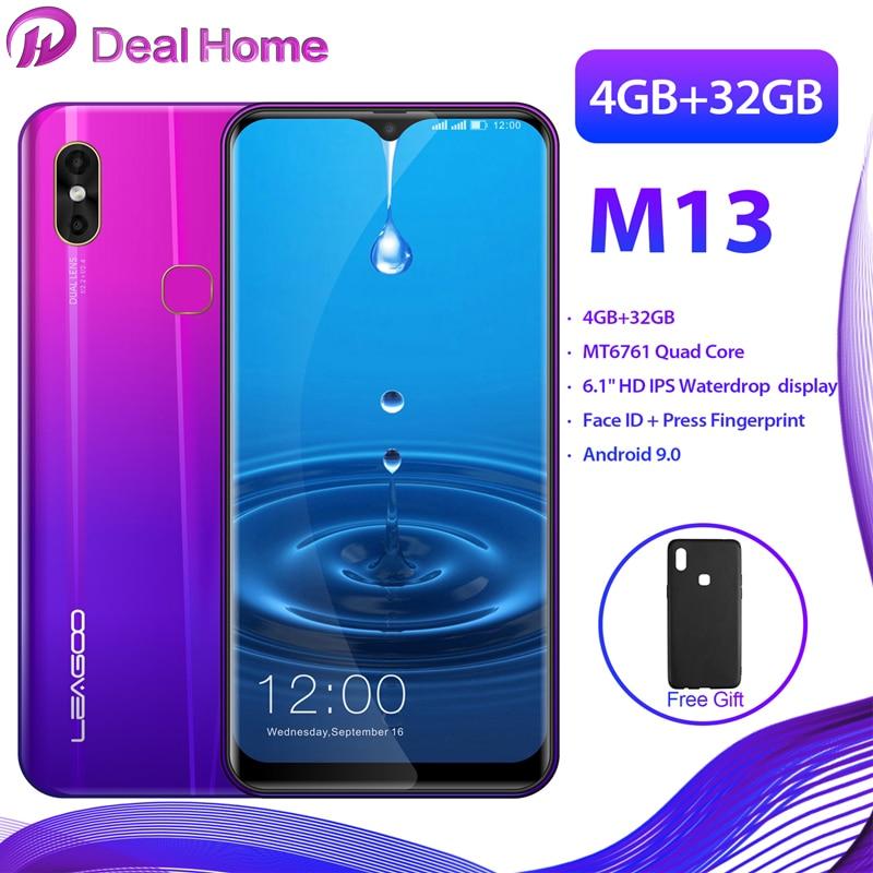 "LEAGOO M13 Waterdrop 19:9 6.1"" HD IPS Display Android 9.0 MT6761 Quad Core 4GB RAM 32GB ROM 3000mAh Dual Cams 4G Smartphone"