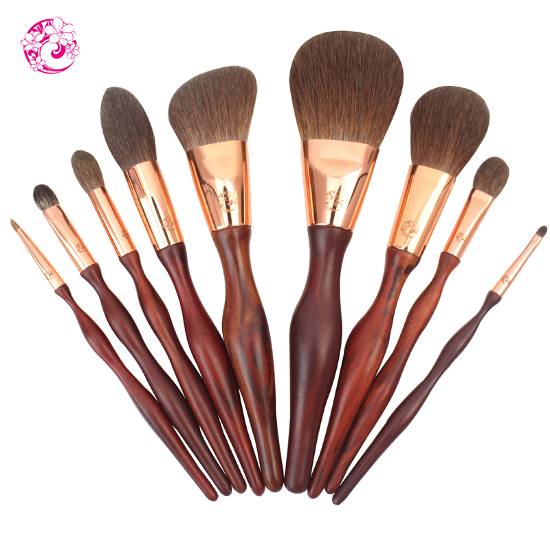 ENERGY Brand 9pcs Professional Rosewood Squirrel Hair Makeup Brush Set Pincel Maquiagem Brochas Pinceaux hm0 energy brand professional sets