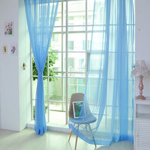 1 PCS Modern  Pure Color Tulle Door Windowfor the Bedroom Sheer Curtains  Living Room Curtain Drape Panel Sheer Window curtains