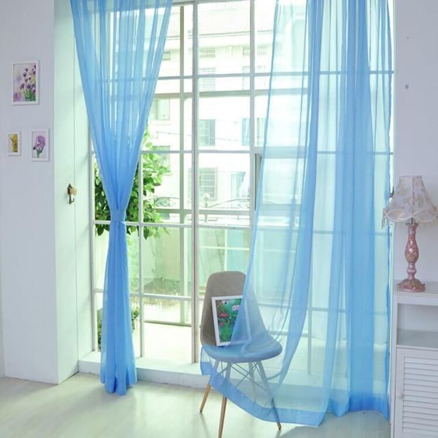 1 STÜCKE Moderne Reine Farbe Tüll Tür Windowfor das Schlafzimmer ...
