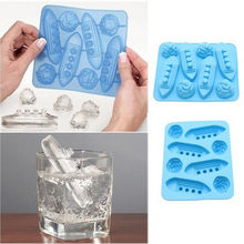 Ice Titanic Mold Silicone Cooking Tools Cookie Cutter Molds Trays Cupcake Box Stand