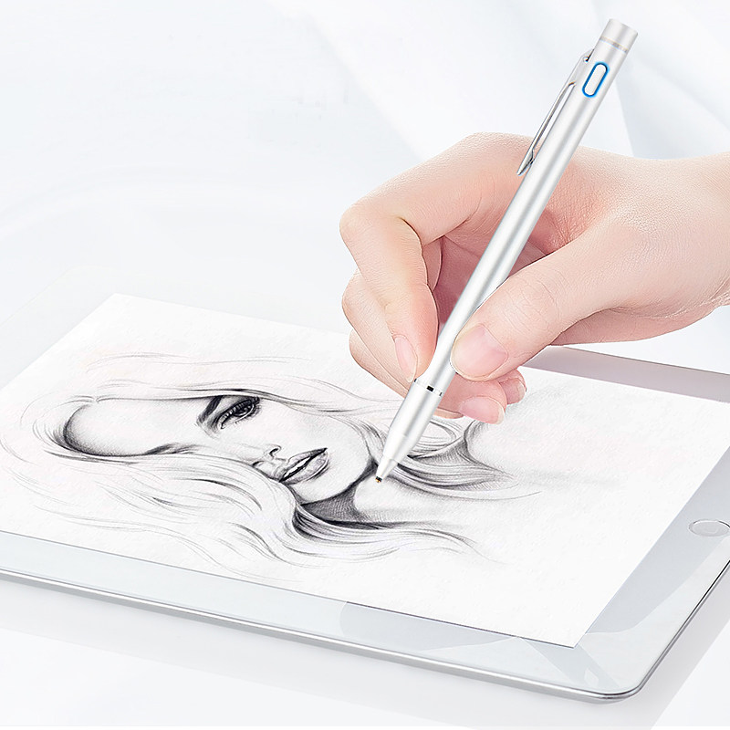 Active Stylus Digital Touch Pen with 1.3mm Ultra Fine Tip for iPad HUAWEI Tablets work at iOS and Android Capacitive touchscreen