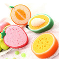 Hot Cute Rags Fruit Shape Scouring Pad Sponge Kitchen Health Practical Cleaning Dishcloths Washing Decontamination Convenience