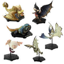 купить 6PCS Different Style Japanese Anime Monster Hunter World Plus Vol.10 PVC Models Ancient Dragon Action Figure Collect toys по цене 832.21 рублей