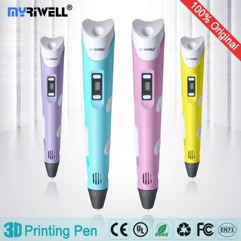 Hochwertige 3D stereoskopischen graffiti pen magic pen filament ABS 1,75mm (stift + freies filamente + adapter) kinder wie