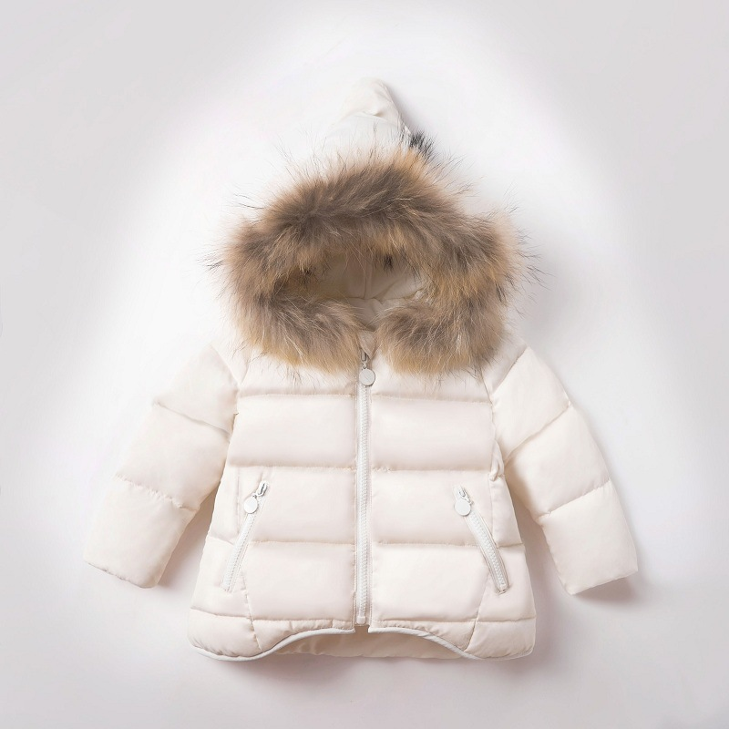 New Toddler Outerwear Warm Coat Baby Boys Girls Hooded Parkas Thick Down Jacket Coats Winter Children Girls Clothes Kids E272 thumbnail