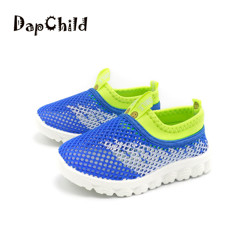 DapChild Boys Shoes 2018 New Childrens Tennis Summer Sandals Beach Shoes Girls Flat Shoe Kids Casual Footwear Age 1-8