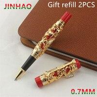 High Quality Jinhao Ballpoint Pen Luxury Metal Rollerball Pen Ancient gold 0.7MM Nib Stationery Office School Supplies caneta