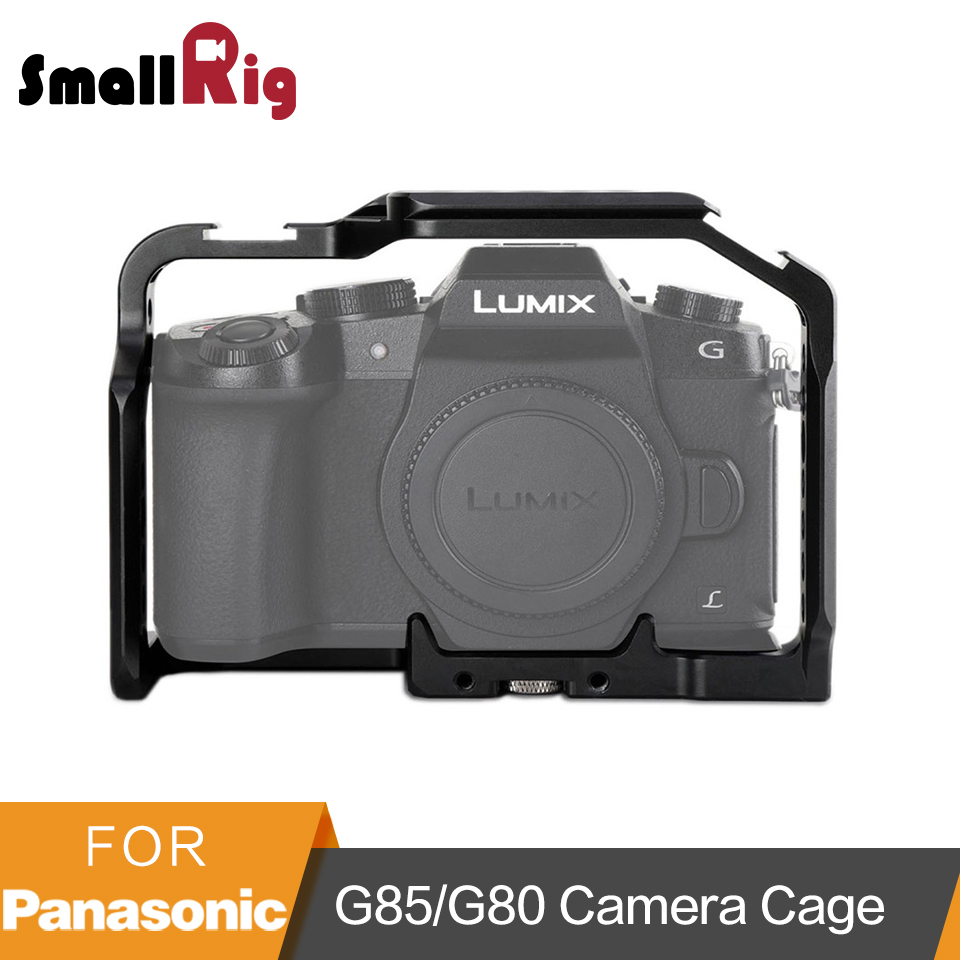 SmallRig Cage untuk Panasonic Lumix DMC-G85 / G80 Multi-fungsi Cage dengan Rail NATO Top dan Side dan Two Cold Shoe - 1950