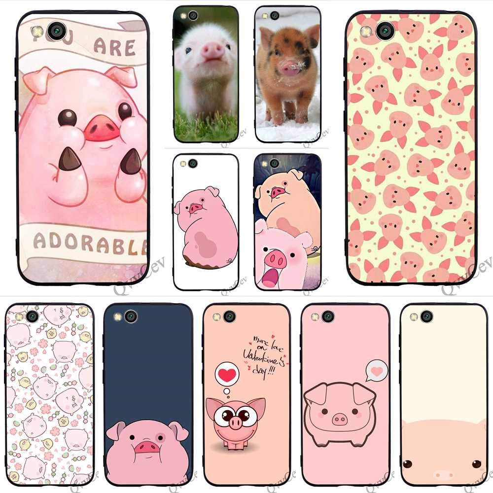 Ultra Thin Funny cute lovely pig Phone Cover for Xiaomi Mi A1 Case A2 Lite 6 8 F1 Covers Back in Fitted Cases from Cellphones Telecommunications