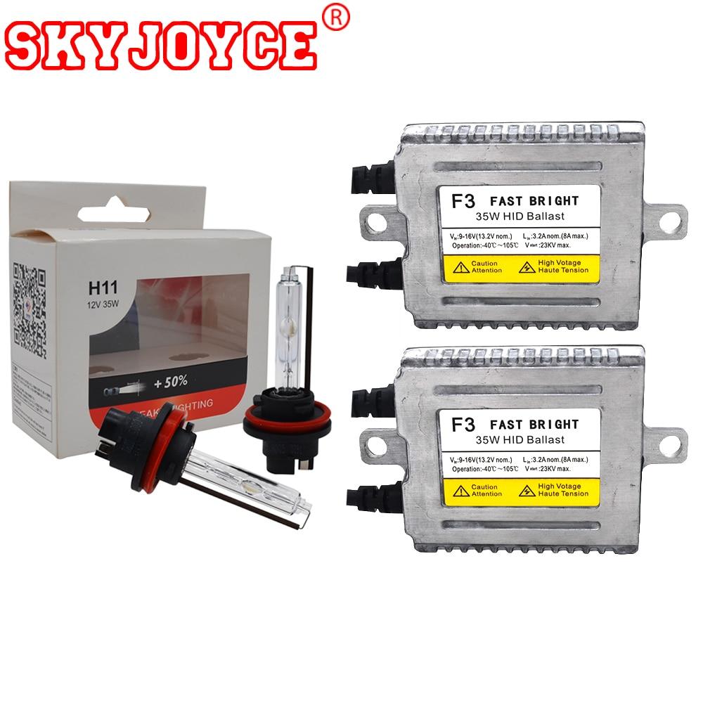 цена на SKYJOYCE Store Original DLT ballast F3B Kit Fast Bright yeaky H11 xenon H7 D2H H1 5500K xenon HID KIT 6500K 4300K Car Headlight